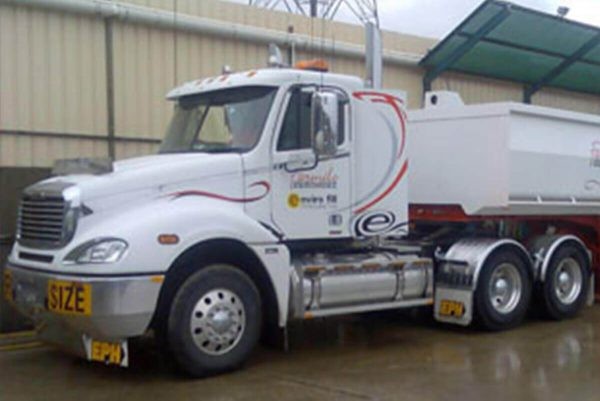 One of our Semi Tippers available for hire in Melbourne